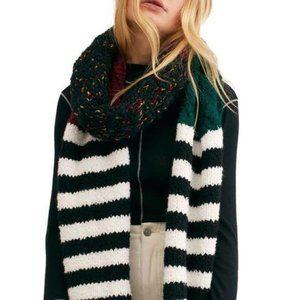 Free People Nova Long Mixed Knit Tassel Scarf NEW